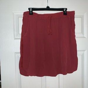 Anthropologie Drawstring Skirt